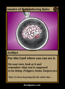 amulet of remember your shit card